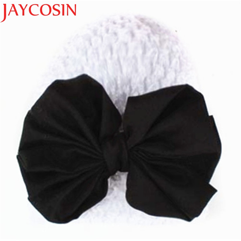 JAYCOSIN 2017 Baby Hats For Girls Winter Bowknot Warm Hat Newborn Toddler Skullies Beanie Photography Props 2016 winter new soft bottom solid color baby shoes for little boys and girls plus velvet warm baby toddler shoes free shipping