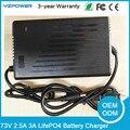 73 v 2.5a 3a smart lifepo4 carregador de bateria para 20 s 3.65 v 3.7 v vida po4 bateria