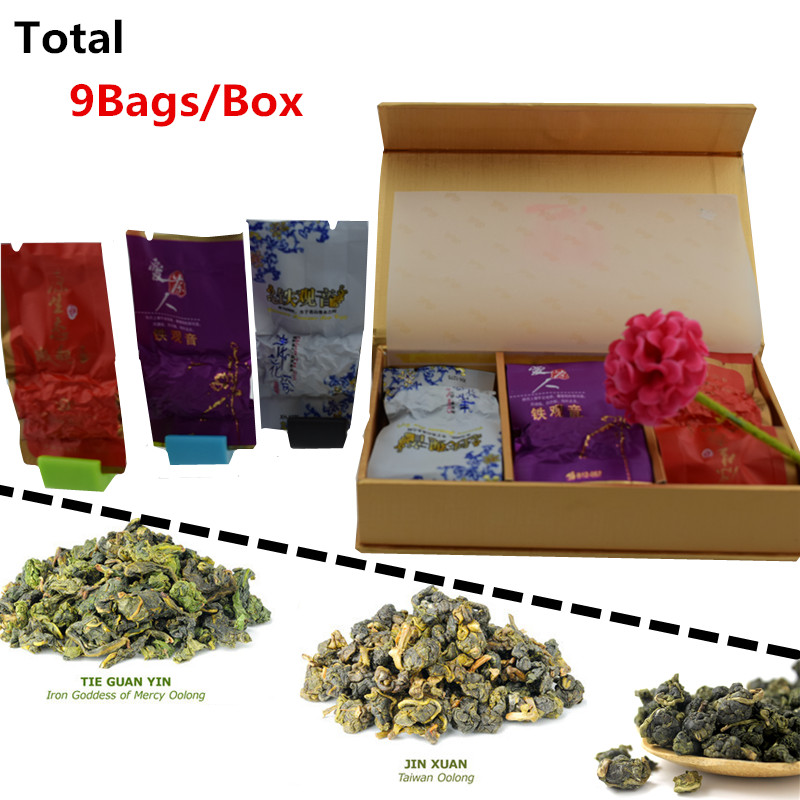 Vip 9 bags/box Organic Chinese Tea Different flavors tieguanyin jinxuan milk oolong tikuanyin Oolong Secret Gift