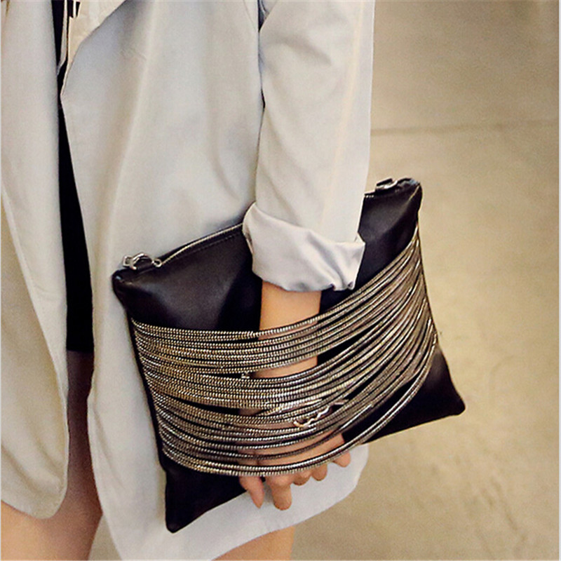 Chain Decoration Clutch Bag Trend 2016 Women's Handbag Fashion Envelope Bag Shoulder Bag Women Messenger Bags bolsa feminina sac