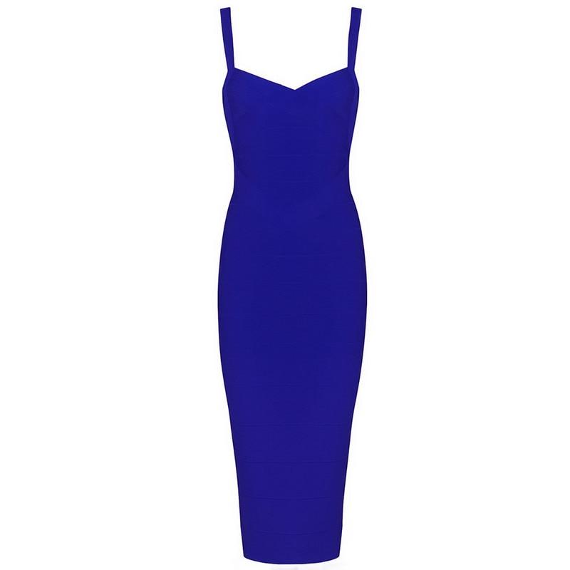 7 цветов Высокое качество Для женщин HL Бандажное платье трапециевидной формы без рукавов до колена Длина без рукавов пикантное, Клубное, вечернее платье - Цвет: Синий