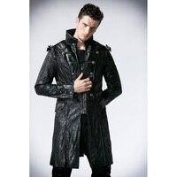 Панк Rave Модные мужские женские панк Streampunk Visual Kei Готический длинные и короткие пальто куртки с капюшоном Y366