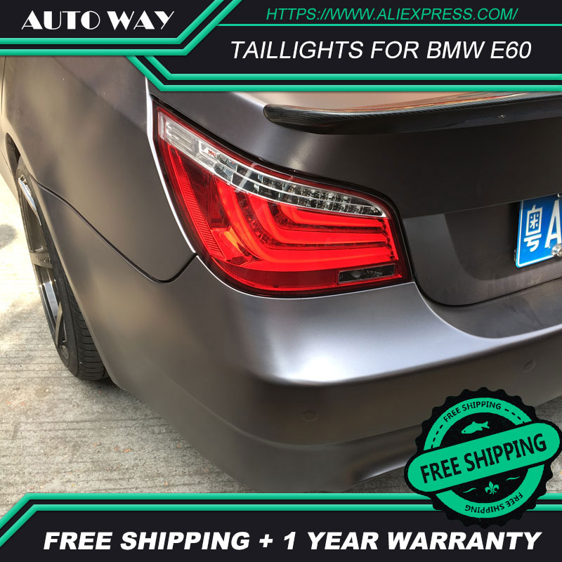 Car Styling taillight tail lights case for BMW E60 520 525 528 530 540 2004 2010 LED Toyota camry taillights Tail Lamp