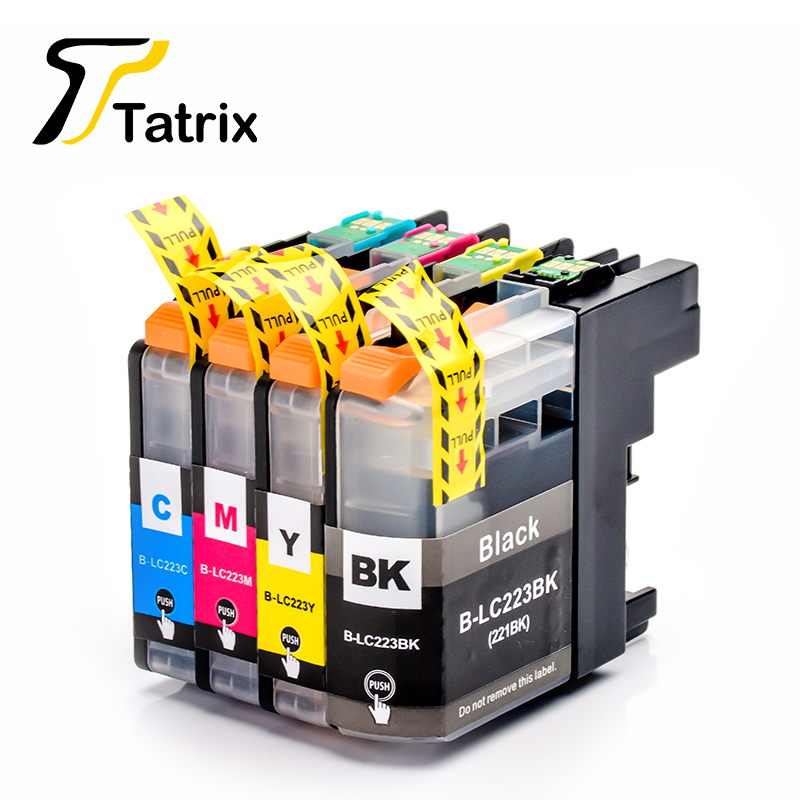 LC223 BK/C/M/Y Full Compatible Ink Cartridge For Brtoher DCP-J562DW/J4120DW/MFC-J480DW/J680DW/J880DW/J4620DW/J5720DW/J5320DW yotat 4pcs refillable ink cartridge lc223 for brother dcp 4120dw mfc j4420dw mfc j4620dw mfc j4625dw mfc j480dw mfc j680dw