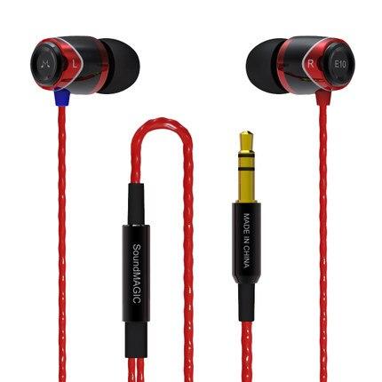 100% D'origine SoundMAGIC E10 3.5mm Écouteurs Isolation Du Bruit Casque écouteurs Hifi Stéréo bouchon d'oreille Écouteurs pour IPhone Android MP3