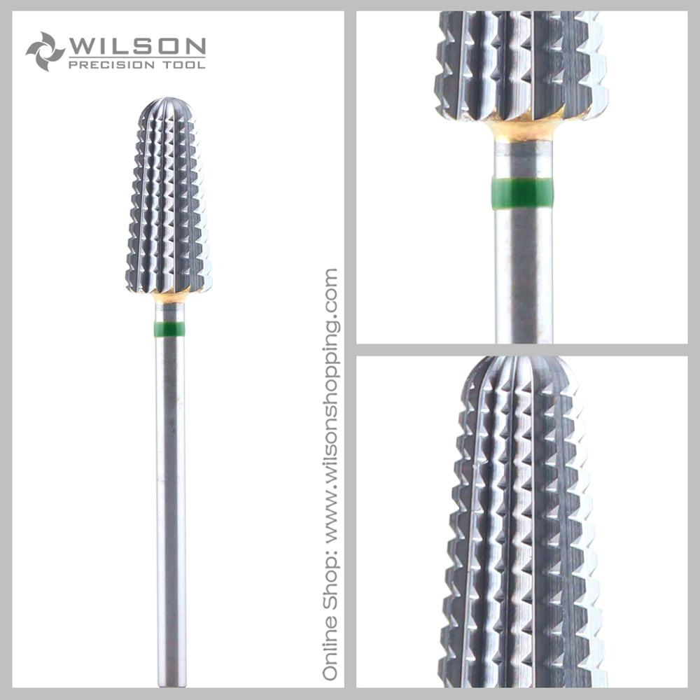 Volcano Bits - Coarse(1100541) - WILSON Carbide Nail Drill Bit volcano bit fastest remove acrylics or gels one directional for right hand use only wilson carbide nail drill bit