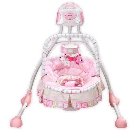Schommelstoel Baby Roze.Gratis Verzending Roze Meisje Luxe Babybed Swing Elektrische Baby
