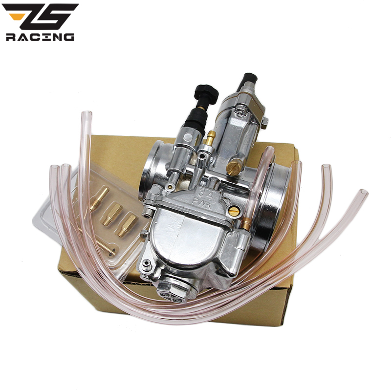 ZS-Racing Silver 28mm 30mm 32mm 34mm Motorcycle Accessories Carburetor Brand New PWK KOSO Carburetor With Power Jet 125cc cbt125 carburetor motorcycle pd26jb cb125t cb250 twin cylinder accessories free shipping