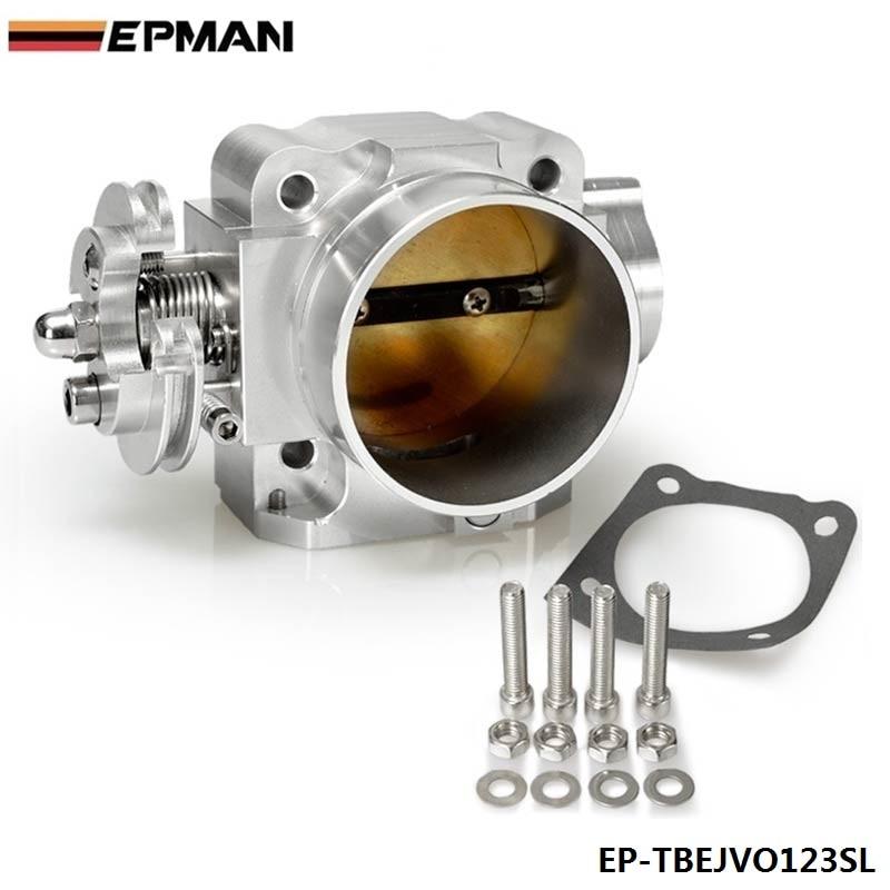 For Mitsubishi Lancer EVO 1 2 3 4G63 Intake Manifold Throttle Body 70mm 92 95 Silver EP TBEJVO123SL