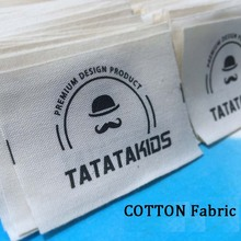 Customized White/beige/black soft Cotton printing clothes labels for Garment suit collar t-shirt clothes accessories cut well