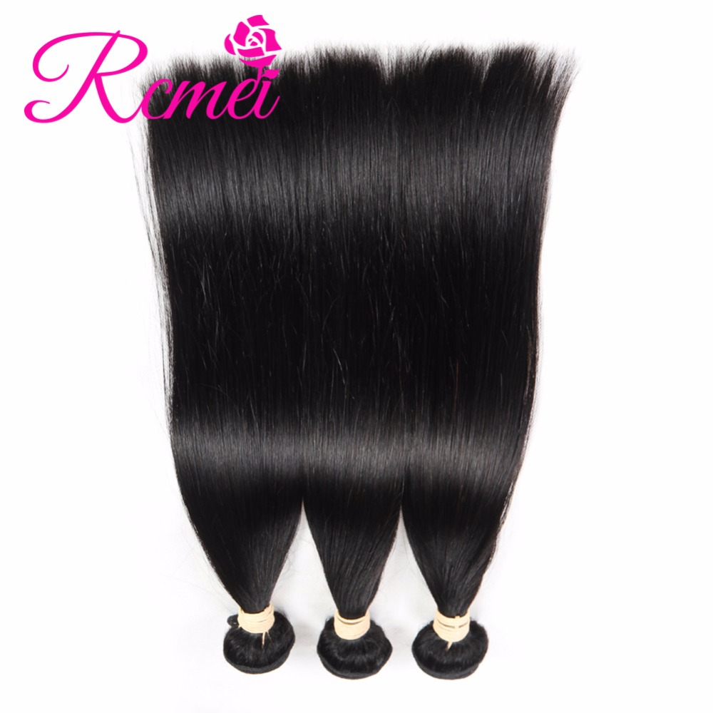 Rcmei Extensions Mongolian Remy Hair Straight Hair Human Hair Bundles 3 Bundles/LOT Mongolian Straigth Weave Bundles Extensions
