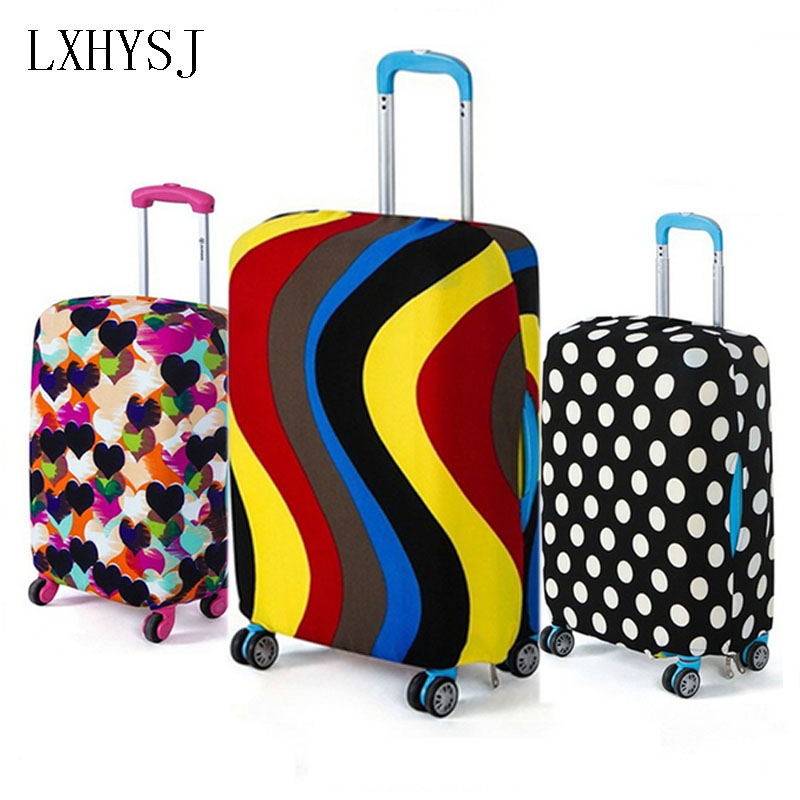 Fashion Travel Luggage Cover Elastic Luggage Protective Covers  Suitable For 18-32 Inch Suitcase Case Travel Accessories