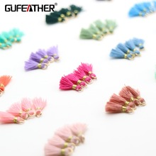 GUFEATHER L69 1cmTassel jewelry accessories accessories parts jewelry findings Golden ring Earring tassels diy accessories cheap 0 5cm Cotton Tassel
