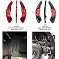 Настоящее углеродное волокно рулевое колесо переключения лопасти переключения для Volkswagen GOLF 7 MK7 Scirocco автостайлинг