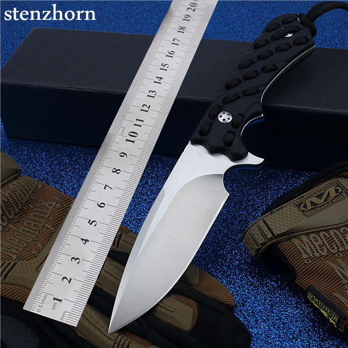 Stenzhorn New Outdoor Small Camping Straight Self-defense Wilderness Survival With High Hardness To The Mountain Hunting Knife stenzhorn new goods wei explorer outdoor small straight knife self defense survival camping with high hardness for sharp fruit
