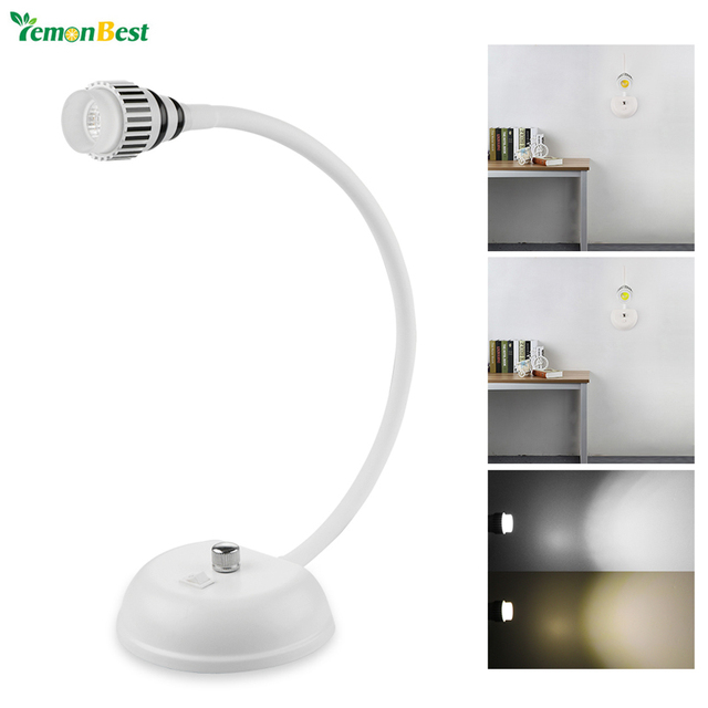 Modern Style Flexible Led Desk Lamp Table Light Mounted With Switch Bedside Reading Ac 85 265v