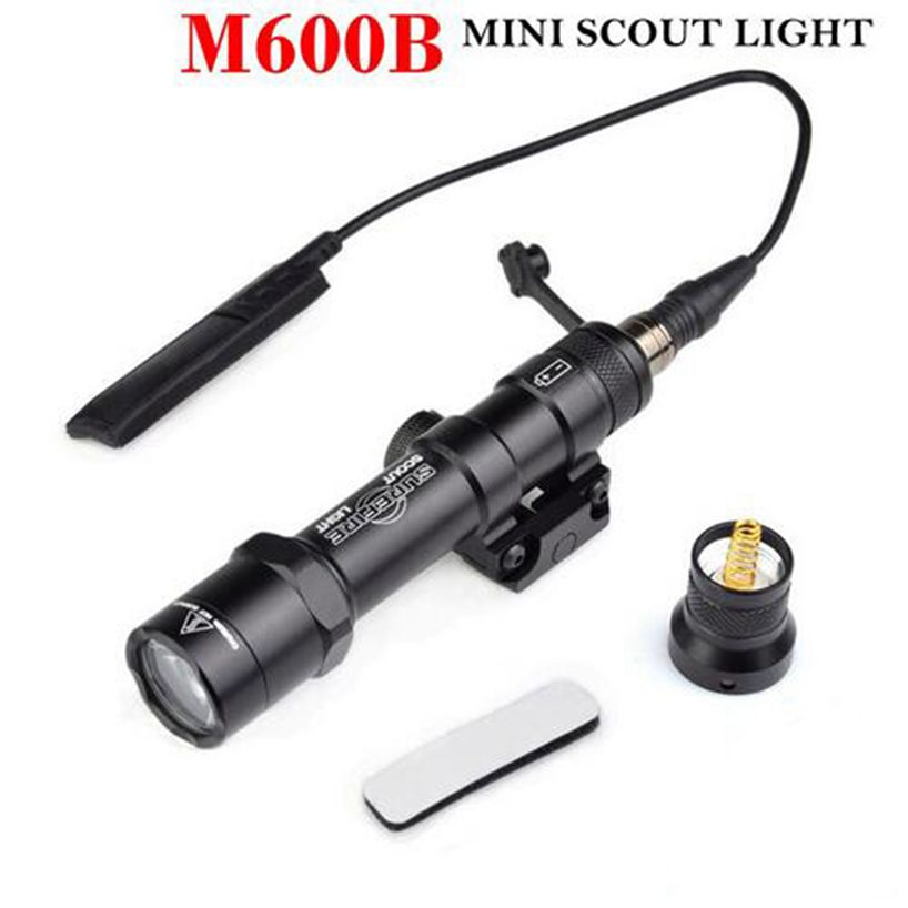 Tactical M600B Mini Scout Light Flashlight LED Weaponlight With Remote Pressure Switch Controller For hunting