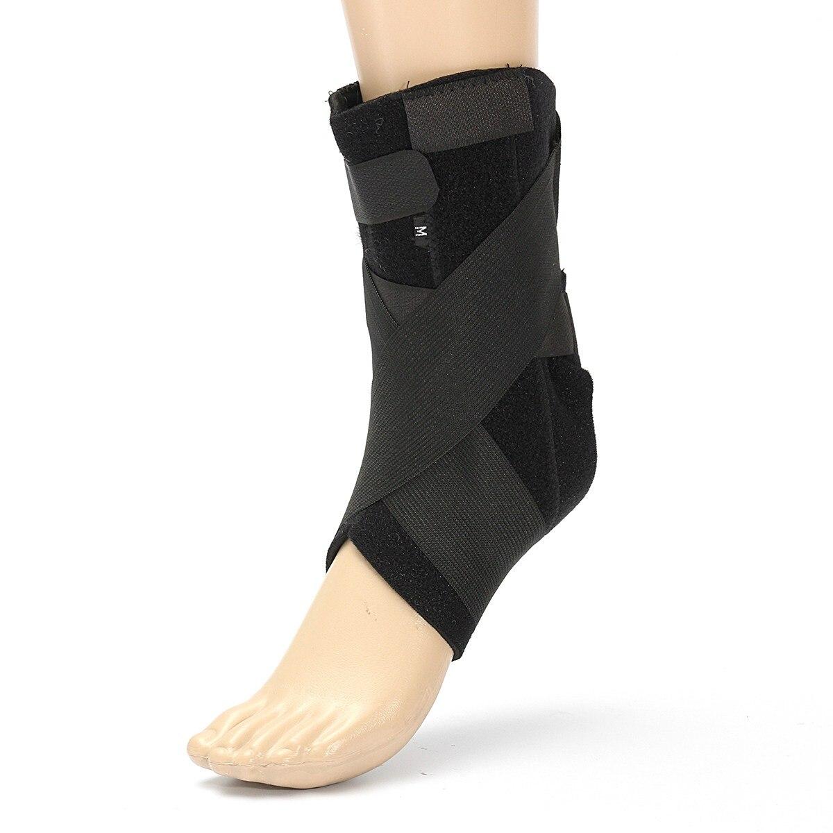 Hot 1 PCs Segurança Proteção Sustentação do Tornozelo Ginásio Correndo Preto Pé Bandas Bandagem de Proteção Elastic Ankle Brace Guarda Esportes