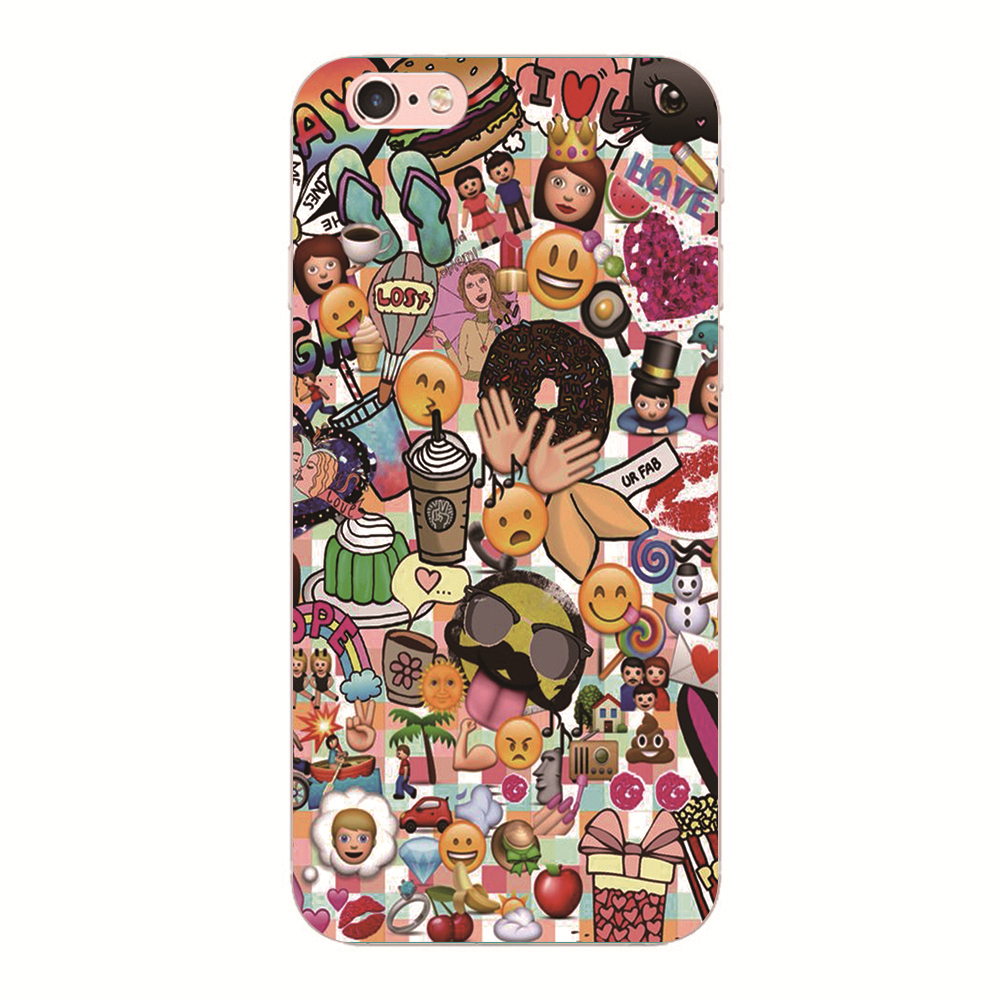 <font><b>Emoji</b></font> Emoticons Hard cover For iphone 5s 5 6s 6 7 Plus For Samsung S4 S5 S6 <font><b>Phone</b></font> <font><b>case</b></font> For Huawei P10 P9 P8 Lite MEIZU M5S M5 M3