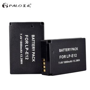 Image 5 - 2 Pcs 1800 mAh LP E12 LP E12 LPE12 Li Ion Batteria + LCD USB Doppio Caricatore per Canon EOS M50 EOS m100 100D Bacio X7 Rebel SL1 Macchina Fotografica