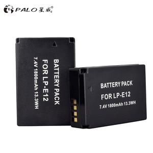Image 5 - 2 pçs 1800 mah LP E12 lp e12 lpe12 li ion bateria + lcd usb carregador duplo para canon eos m50 eos m100 100d beijo x7 rebel sl1 câmera