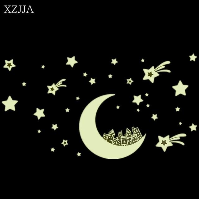 Xzjja luminous stickers stars moon glow in the dark 3d diy night xzjja luminous stickers stars moon glow in the dark 3d diy night light wall art home aloadofball Image collections