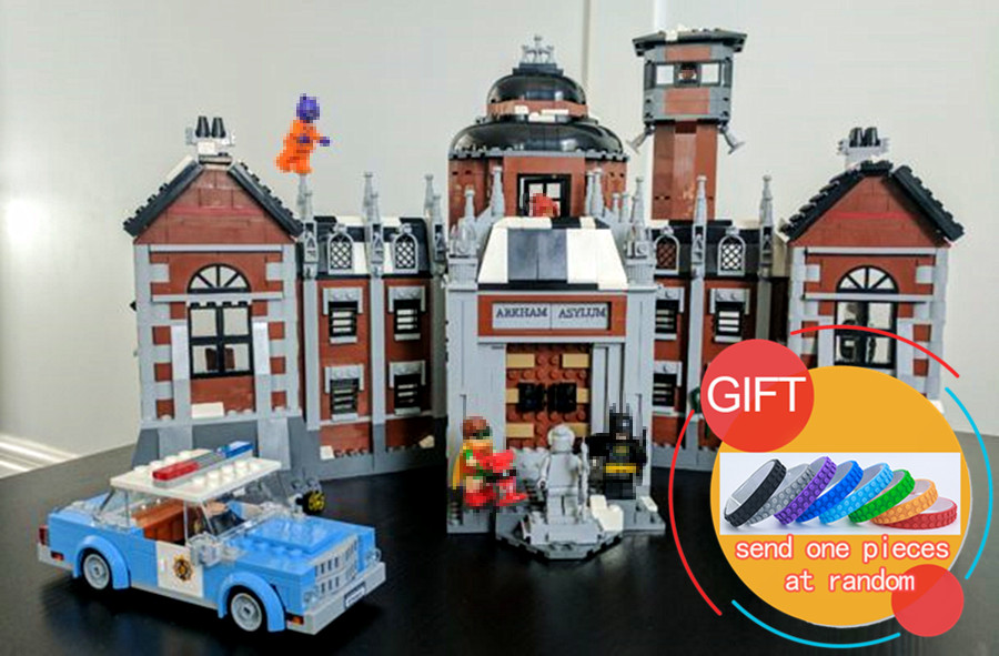 07055 1628Pcs Genuine Batman Movie Series The Arkham`s Lunatic Asylum Building Blocks compatible with 70912 Toys lepin a toy a dream new decool 7124 genuine series marvel batman movie arkham asylum building blocks bricks toys with