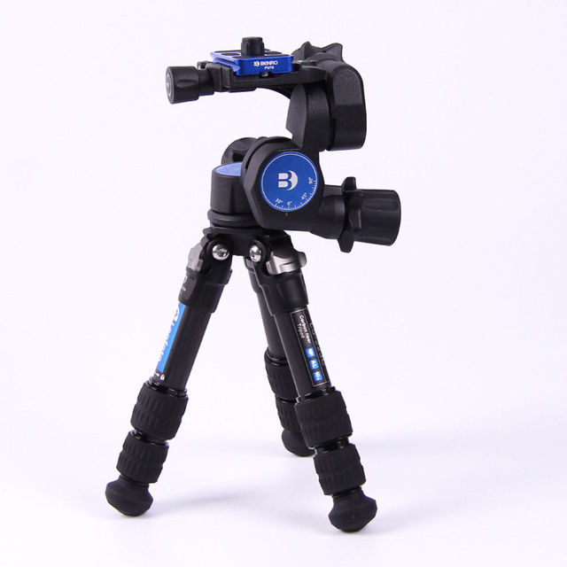 BENRO GD3WH 3D Magnesium Alloy Tripod Geared Head With PU-70 QR Plate for DSLR