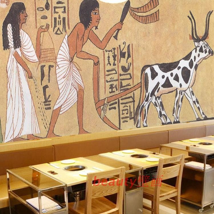 Free Shipping 3D stereo ancient Egypt retro wallpaper mural living room bedroom sofa backdrop restaurant wallpaper  free shipping ancient retro restaurant background painting living room lobby mural high quality bathroom restaurant wallpaper