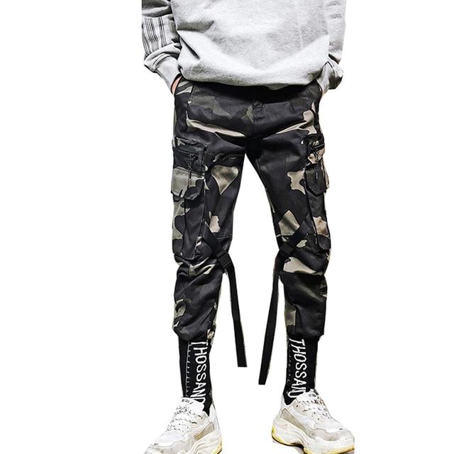 d44fd3d1f7 Men's Fashion Camo Pants Haran Hip Hop Pencil Joggers Streetpants US Size  S-XL