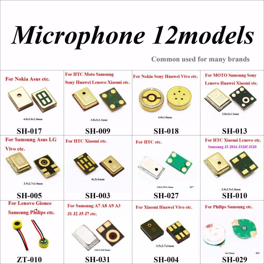 ChengHaoRan 12 Modèles 24 PCS Microphone Intérieure Mic pour Samsung S6 5 4 Note Xiaomi Redmi Huawei HTC MOTO Lenovo Asus Nokia Gionee