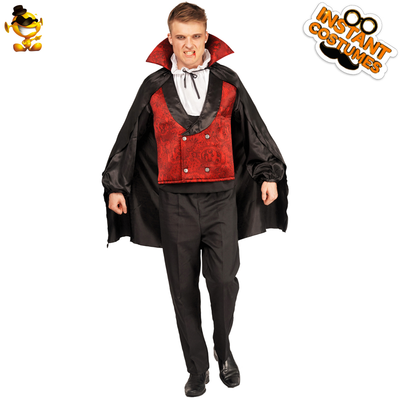 b094ef7bd5e Новый стиль взрослых для мужчин костюм вампира для выступлений Deluxe  костюм вампира хэллоувечерние вечерние костюмы