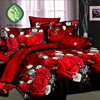 100 Polyester Cotton 3d Flower Bedding 4pcs Queen Twin King Comeliness Bedding Loveliness Beauties Nice Bedclothes