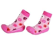 Toddler Girl Boy Newborn Infant Shoes Socks Soft Bottom Non-Slip Floor Rubber Soles Kids Boots Baby Children Socks WS9321