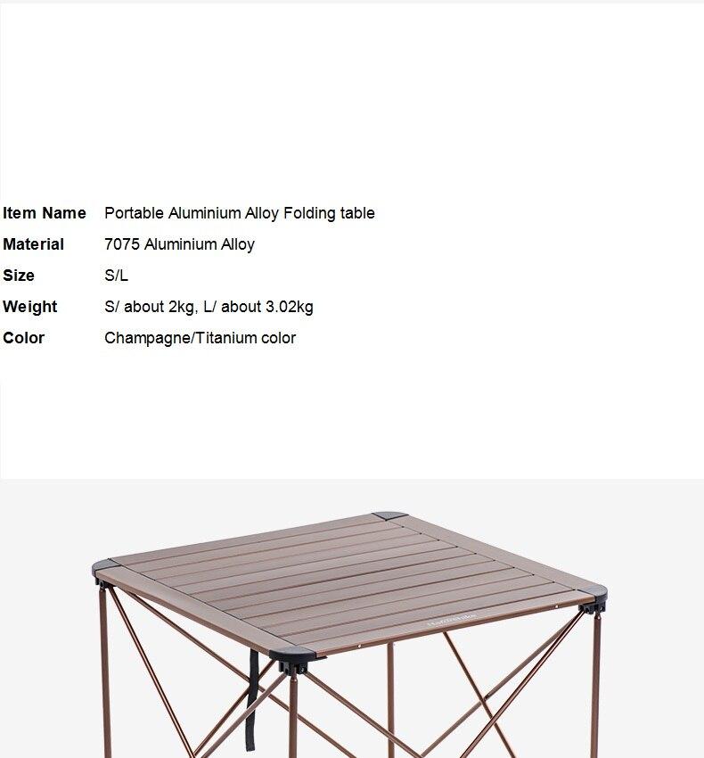 livre estrutura da liga de alumínio mesa