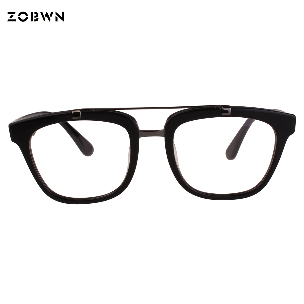 Double beam frame glasses man Oculos de grau male Eyeglasses vinage armacao de oculos grade spectacle for put myopa reading lens