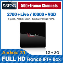 IPTV France Arabic IP TV Spain Portugal Turkey DATOO Leadcool X Android 7.1 1G+8G S905W 1 Year Italy Box