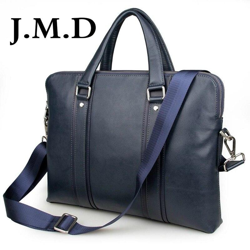 J.M.D 2018 New Arrival 100% Leather Briefcases Men's Cow Leather Messenger Shoulder Bag Handbags 7325