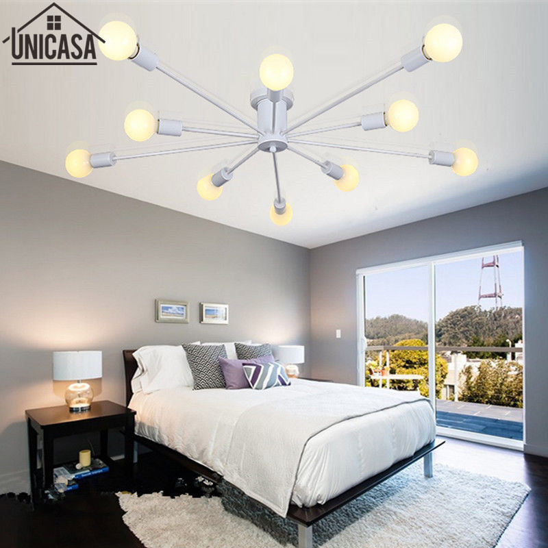 Modern Ceiling Lamp Multiple Rod Wrought Iron Lighting E27 LED Living Room Vintage Pendant Lights Art decorate Industrial  Bar Modern Ceiling Lamp Multiple Rod Wrought Iron Lighting E27 LED Living Room Vintage Pendant Lights Art decorate Industrial  Bar