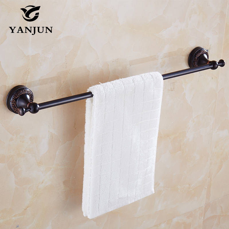 ФОТО YANJUN Antique Brass Single Towel Bars Towel Hanger 40CM Bathroom Accessories Christmas Decorations For Home YJ-7858