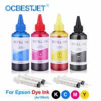 Garrafa de tinta universal da tintura 400ml para epson l100 l210 l392 l396 s22 cx4300 cx7300 tx109 tx117 tinta da tintura da tinta da impressora para epson