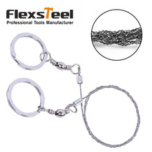 Flexsteel Pocket 20 inch 53cm Steel Wire Saw Mini Multifunctional Chain for Camping Hunting Survival Rescue