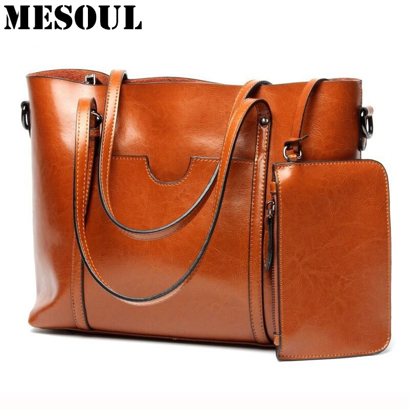 Women Casual Tote Genuine Leather Handbag Bag Fashion Vintage Large Shopping Bag Designer Crossbody Bags Big