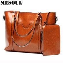 Frauen Casual Tote Echtes Leder Handtasche Tasche Mode Vintage Große Einkaufstasche Designer Crossbody Beutel Große Umhängetasche Weibliche