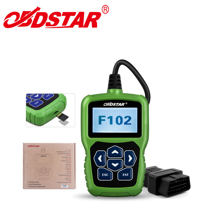 New OBDSTAR F102 Pin Code Reader For Nissan/Infiniti F-102 Auto Key programming Update Version of NSPC001 Update By TF Card original obdstar f101 for toyota immo g reset tool support g chip all key lost free update via tf card f101 obdstar free ship