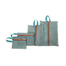 4pcs/set Thicken Travel Storage Box Portable Travel Mesh Case Toiletry  Clothes Underwear Hanging Storage Bag Organizer Pouch