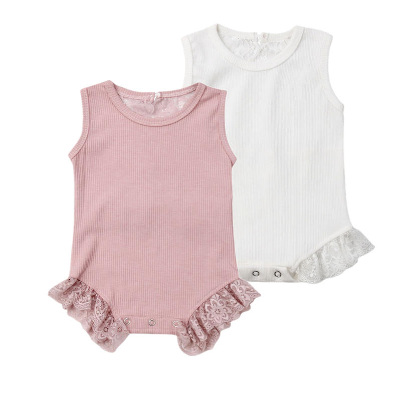Princess Newborn Baby Bodysuits Infant Baby Girls Floral Lace Cotton Outfits Jumpsuits Playsuit Clothes Cute Kids Clothes