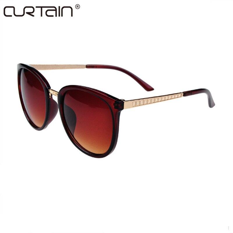 62921942c41 CURTAIN Round Fashion Glasses Oversized Sunglasses Women Brand Designer  Luxury Womens Eyeglasses Big Cheap Shades Oculos De Sol-in Sunglasses from  Apparel ...