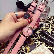 Classic New Fashion Simple Style Watch Set Luxury brand watch with bracelet Women casual Leather watches