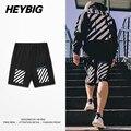 Скейтборд Шорты Американский Уличная Мода Хип-Хоп Мужчины Белый Тренировочные Брюки Heybig Одежда Китай размеров Основания Настройки 50 шт.